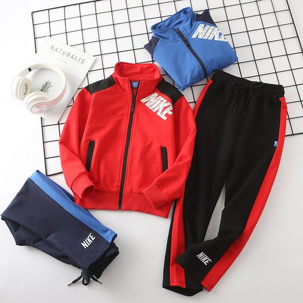 Childrens Designer Clothing Sets 2019 New Fashion Sports Style Tracksuits Casual Jacket + Pants Outdoor Running Wear Boys Girls Teens
