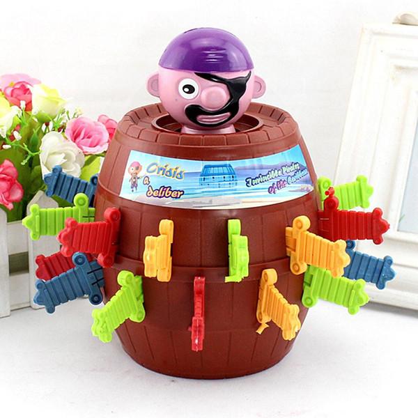 Novidade Brinquedo Tricky Pirate Barrel Game para crianças e adultos Sorte Stab Pop Up Game Toys Jogo Intelectual Para Crianças