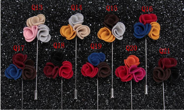 2019 New fashion Handmade Corsage Exquisite Lapel Flower Brooches Pins Women Men Boutonniere Stick Brooch Pin Wedding Christmas Party
