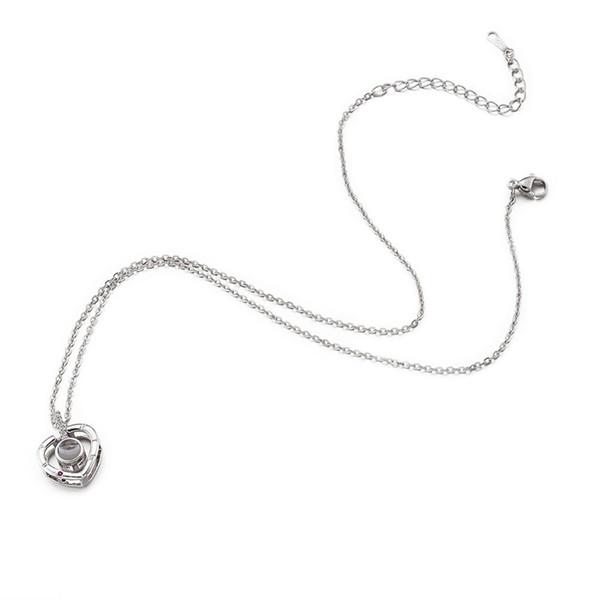 1 pc en laiton pendentif colliers de longue durée plaqué avec chaîne de fer coeur collier pour les femmes plat rond pendentif collier cadeau 41.5 cm