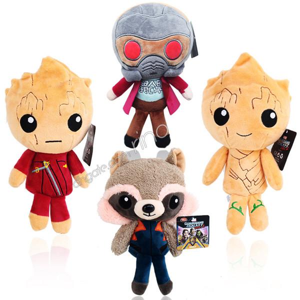 Guardiani della Galassia Marvel Plush Toys Giocattoli per bambini 22cm kawaii Q style Star-Lord Groot Rocket Raccoon The Avengers Soft Sutffed Gifts
