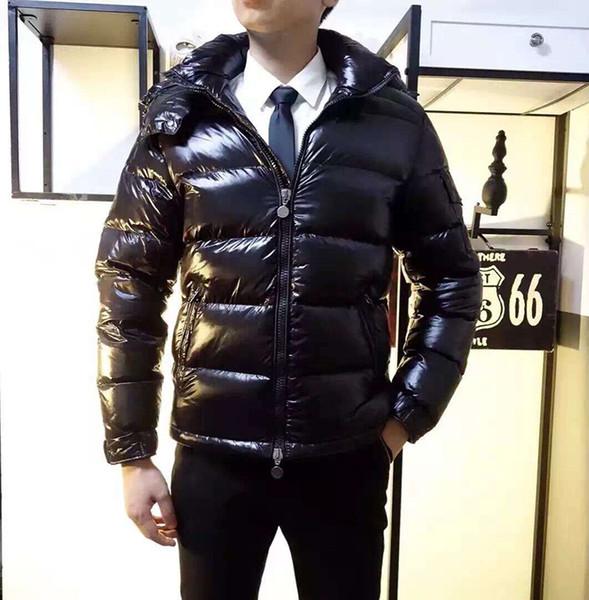 Los hombres de las mujeres de la marca Clásica Chaqueta de Down Casual Brillante mate Abajo Abrigos Hombres Exterior Cálido vestido de plumas Unisex invierno cálido abrigo outwear