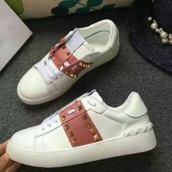 2019 Krystal Spike Meia Donna Plana Tênis de Neoprene Designer Homem homem Red Bottoms Shoes Womens Rivet Spiky Meia Júnior Spikes Vermelho com caixas
