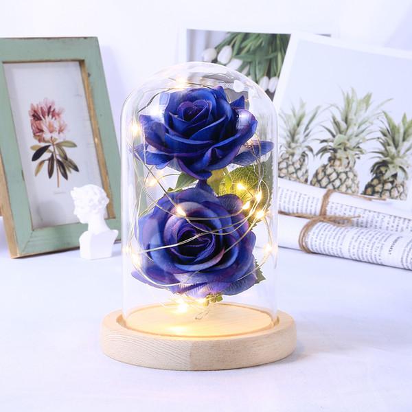 LED Güzellik Gül Beast Akülü Red Flower Dize Işık Masası Lambası Romantik Doğum Günü Tatili Kız Anne Hediye Ev Dekorasyonu SH190920