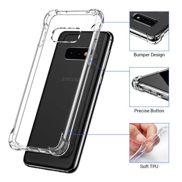 Airbag tpu macio transparente anti-batida tampa do saco do gas case para samsung s10 5g e m30 m20 m10 a10 a20 a30 a40 a50 a70 além de