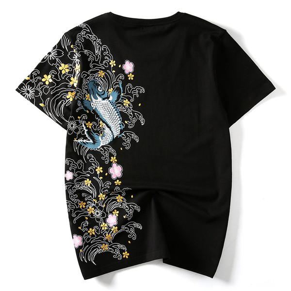 Summer Chinese Wind T Shirt Carp National Wind Embroidery Personality Loose Large Size Tshirt Short Sleeved T Shirt Formal Shirts Denim Shirts From Jamesli 1205 27 41 Dhgate Com,Family Tree Tattoo Designs For Women