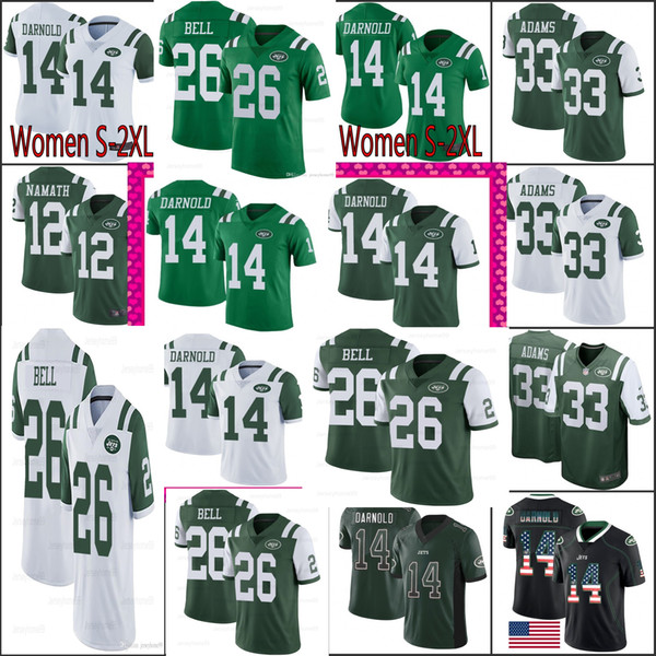 wholesale dealer dcb10 20854 2019 26 Le'Veon Bell 14 Sam Darnold New 11 Robby Anderson York Jets Jersey  33 Jamal Adams 12 Joe Namath Jersey 2019 New Top Quality From Trade_2018,  ...