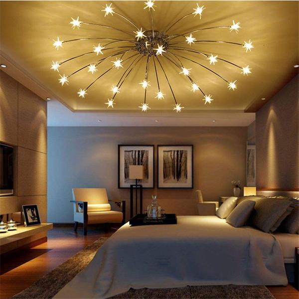 Moderne LED-Deckenleuchte Eisblume Glaspendelleuchte Schlafzimmer Küche-Kind-Raum-Decken-Lampe Himmel-Stern-Pendelleuchten Beleuchtung