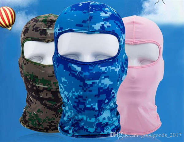 top popular Bicycle Cycling Masks Motorcycle Barakra Hat Cycling Caps Outdoor Sport Ski Mask CS windproof dust head sets Camouflage Tactical Mask MD002 2020