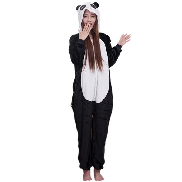 informazioni per 20a09 9af42 Acquista Costume Da Panda Panda Kigurumi Orso Personaggio Adulto Inverno  Calda Camicia Da Notte Pigiama Donna Onesies Sleepwear Da Neonato Halloween  A ...