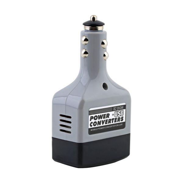 Convertitore da auto Convertitore da auto Adattatore CC 12V / 24V a CA 220V Caricatore Power + USB Nuovo Dropping Spedizione gratuita