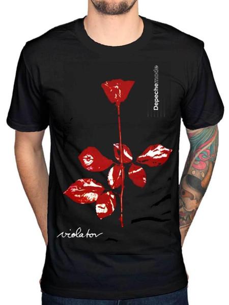 Официальная футболка Depeche Mode Violator Band Классическая Electro Rock Band Мужская футболка Низкая цена 100% Хлопок Футболка Одежда