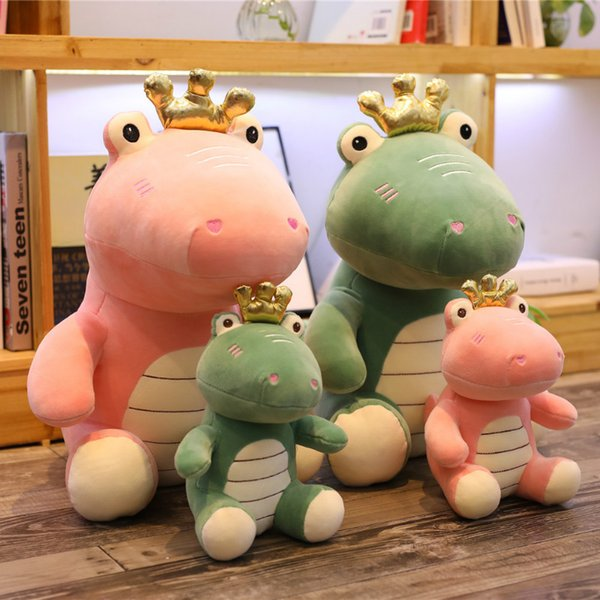 Crown Dinosaur Toys Soft Stuffed Animal Pink Blue Plush Dinosaur Dolls Cute Plush Animal Toys for Children