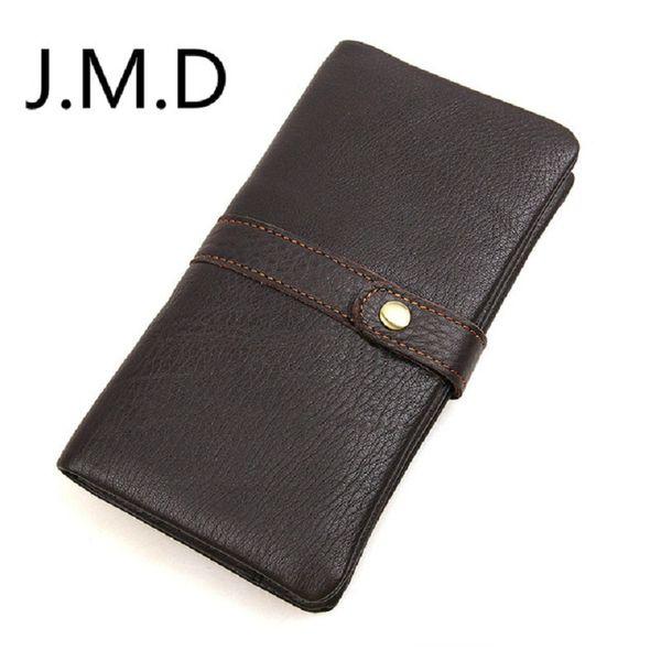 J.M.D. 2019 nouveaux pinces à billets en cuir véritable pour hommes en cuir véritable avec portefeuille RFID 8140