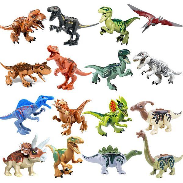 Jurassic Dinosaur Set Building Block Toy Figura Indoraptor Velociraptor Triceratop Indomirus T-Rex Mundial YG77001