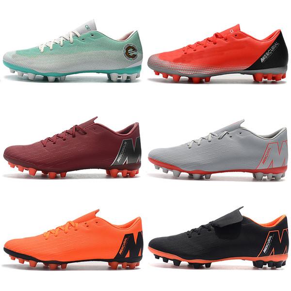 Caliente Mercurial Vapors XII Academia AG CR7 12 Tobillo bajo para hombre Ronaldo Neymar AG-R Fútbol Fútbol Zapatos Tamaño 39-45