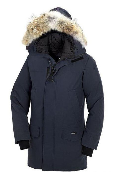 Top quality Men's Langford Parka Down Jacket Parka Winter Warm Thick Down Coats Hooded real wolf Fur Collar Down Jackets of man