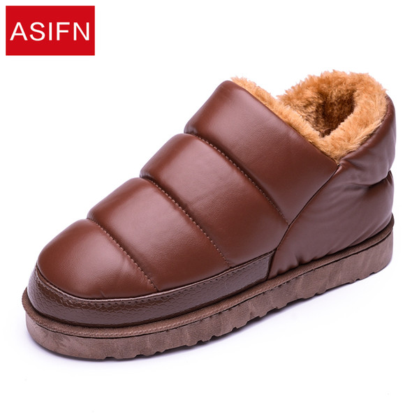 Winter Anti-skiing Boots Men's Waterproof Short Thick Warm Student Cotton Shoes Flat Men's Shoes