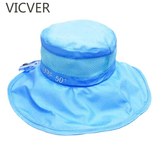 2019 Summer Women Sun Hats UV Protection Foldable Hat Travel Quick Dry Beach Cap Casual Outdoor Female Wide Brim Caps Breathable