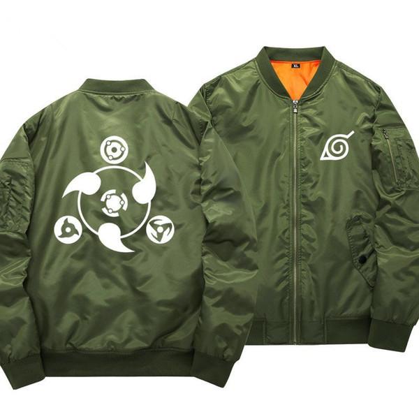 Anime Naruto Jaquetas De Beisebol Naruto Uzumaki Traje Cosplay Harajuku dos desenhos animados Zipper Bomber Jacket Outono casaco Piloto 061003