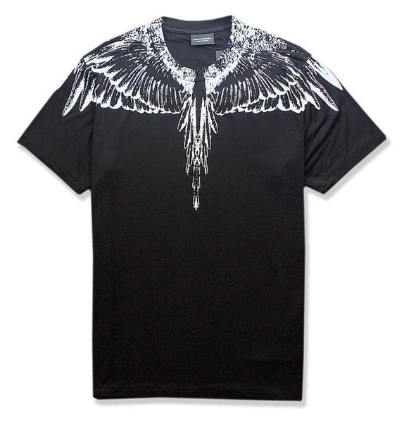 sss Marcelo Burlon T-Shirt Men Milan Feather Wings T Shirt Men Women Couple Fashion Show RODEO MAGAZINE T-Shirts Goros camisetas