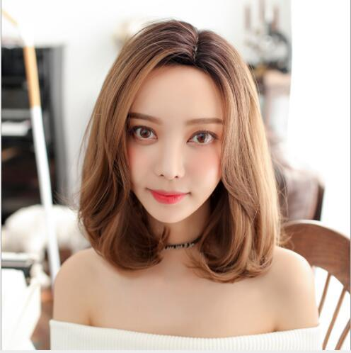 New wholesale wig female short hair fluffy natural buckle shawl curly hair whole wig set without bangs