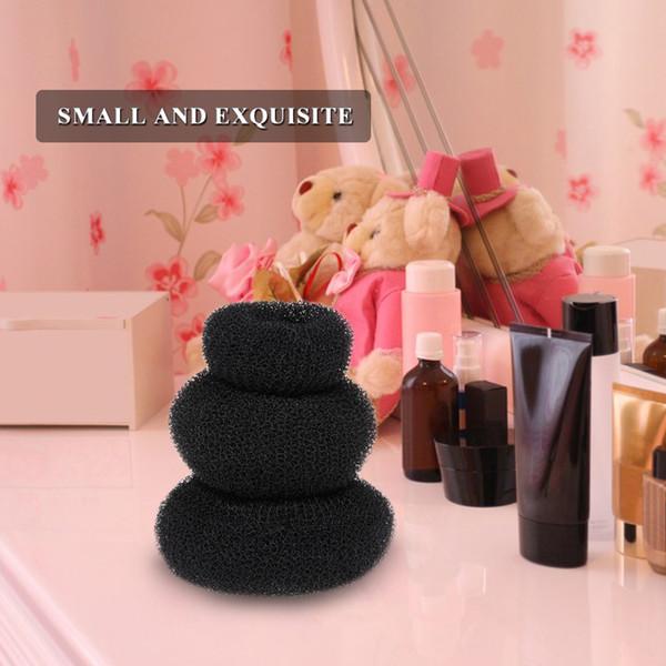 3 Unids Negro Elástico Hairbands para Niñas Moda Mujeres Scrunchie Gum para Accesorios Para el Cabello Bandas Elásticos Del Pelo Hairwear Banda de goma