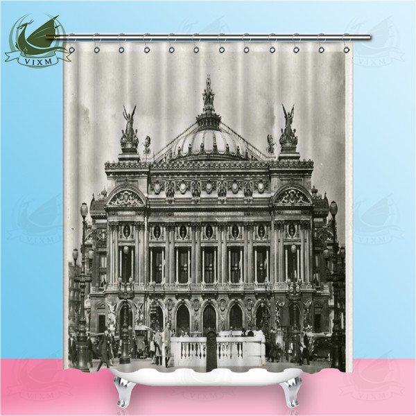 Vixm Gothic Style Old Buildings In Notre Dame Cathedral France Shower Curtains Polyester Fabric Curtains For Home Decor