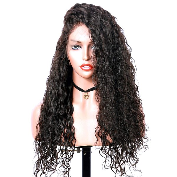 Lace Front Wigs Long Narural Curly High Density Synthetic Lace Wigs For Women With Baby Hair Natural Hairline Realistic Looking Heat Resist