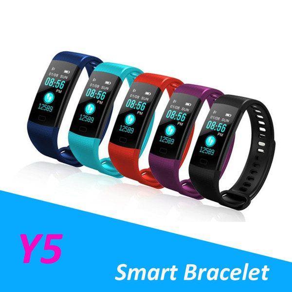 Y5 Smart Bracelet Wristband Fitness Tracker Blood Pressure Monitor Sport Waterproof Smart Watch For IPhone Samsung With Retail Package