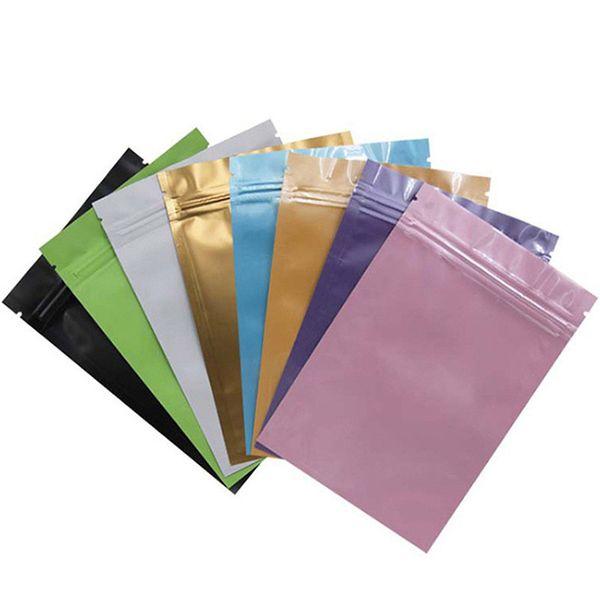 100 шт. лот красочные Самоуплотняющиеся Ziplock алюминиевой фольги хранения продуктов питания майлар Снэк-пакет сумки жара печать зазубрины разрыв упаковки мешок