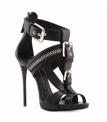 Sandálias de Salto Alto das Mulheres da moda Sapatos Casuais 2019 Gladiatoe Peep-toe Cor Patchwork Stilettos Noite Out Partido Sapatos de Salto Alto Sandálias