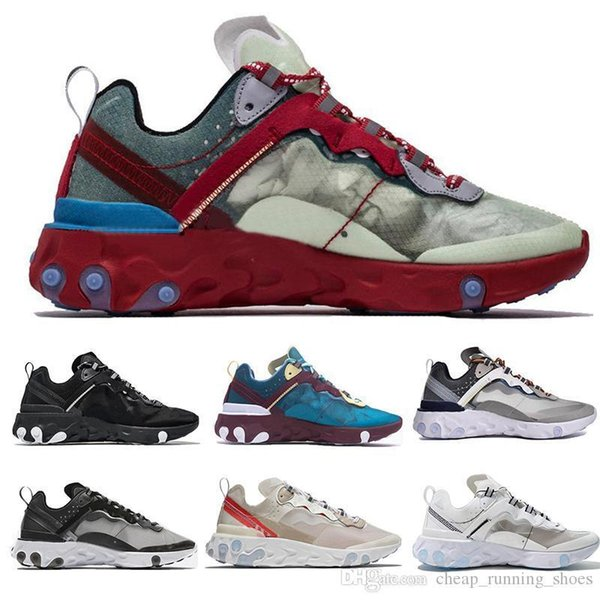 Yeni Varış UNDERCOVER x Yaklaşan Tepki Eleman 87 Paket Beyaz Epic Sneakers Marka Erkek Kadın Eğitmen Erkek Kadın Tasarımcı Koşu Ayakkabıları Zapatos