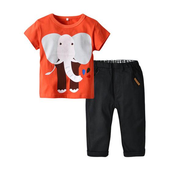Compre Ropa De Diseñador Para Niños De Dibujos Animados Lindo De Algodón Para Niños Ropa Para Niños Ropa Casual Camiseta + Pantalones Pantalones