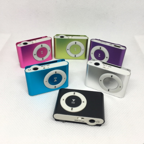 top popular Colorful Mini clip MP3 Player without Screen - Support Micro TF SD Card Portable Sport Style MP3 Music Players 2021