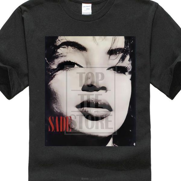 T-shirt imprimé Harajuku à manches courtes pour hommes Top O Neck Hommes à manches courtes Meilleur ami Sade Smooth Operator Face T-shirts
