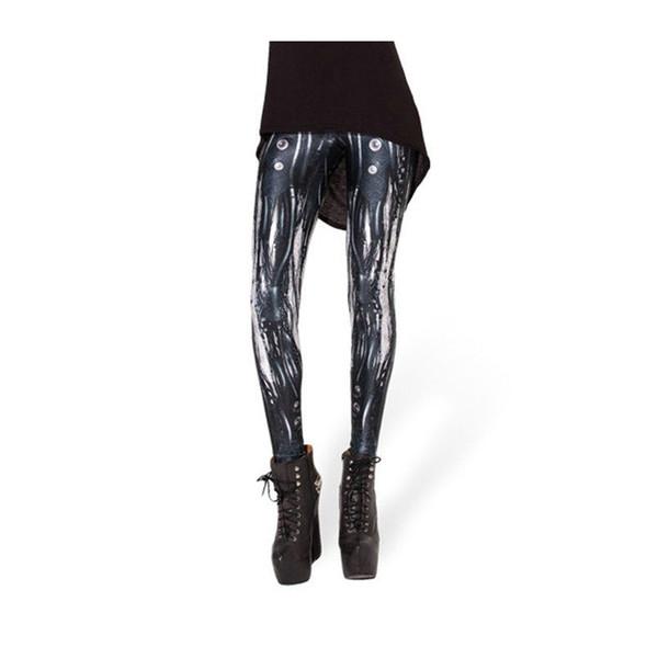 Woman Leggings Mechanical Pipe Bubble 3D Digital Full Print Fitness Yoga Wear Pants Lady Runner Jeggings Girls Gym Sport Trousers (YLgs3067)