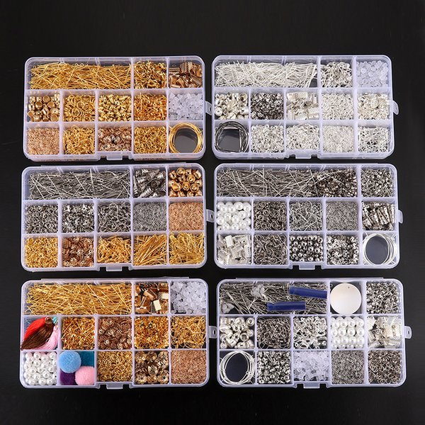 Jewelry DIY tools kit End Jump rings Crimp & End Connectors for DIY Jewelry Findings Jewelry Findings & Components