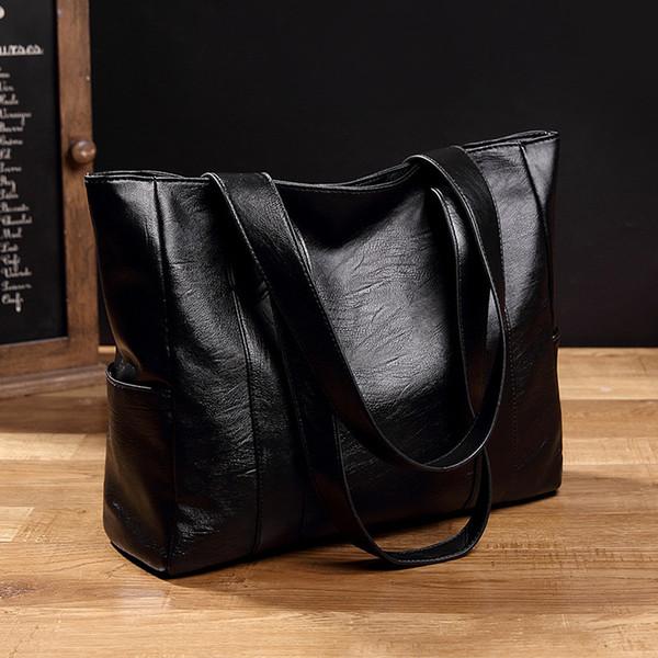 Mulheres bolsa de couro Moda Handbag Retro Embossing Ladies couro Bolsa de Ombro Grande Tote Bolsa mulheres Bolsa Sacola CJ191217