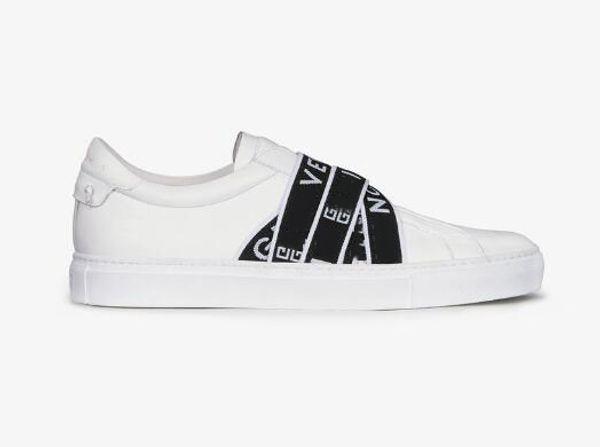 NUEVA y lujosa correa de París hombre zapatilla de deporte de calidad superior caja original zapatos cómodos casuales mejor diseñador 4G zapatillas para mujeres blanco