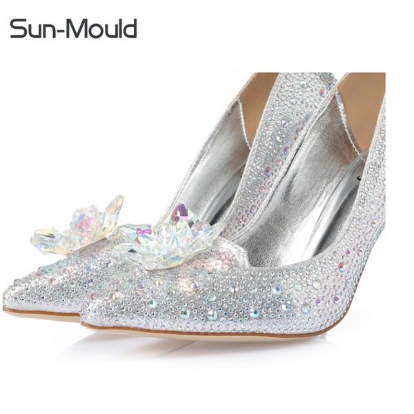 Strass cristal chaussures clips de fleurs talons hauts sandale femme femme Escarpins Chaussures De Mariage charmes clips de fleurs 1 paire / lot