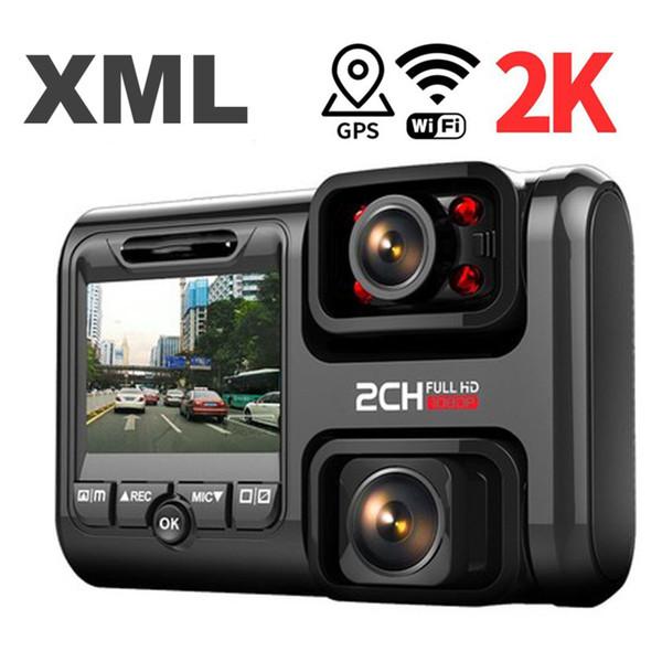 Registrazione Dash 4K 2160P GPS WIFI Cam automobile doppia DVR dell'automobile di visione notturna telecamera nascosta Loop di Dvr Sony Sensore Recorder Camcorder