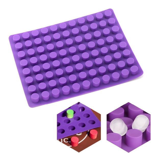 88 cavidades mini redondo mini pasteles de queso moldes para hornear molde de silicona para chocolate jalea de trufa y caramelo molde de hielo Q190430