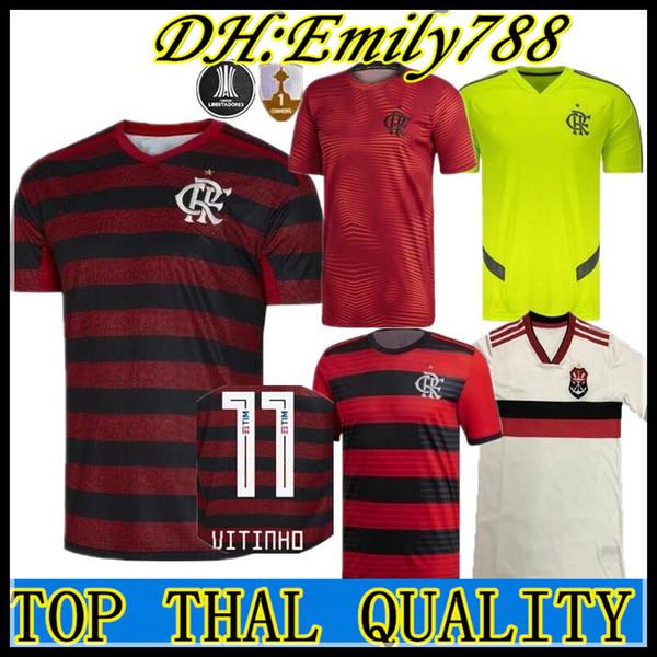 19 20 Camisetas de fútbol Flamengo E.Ribeiro GUERRERO DIEGO Camisa de Futebol 2019 2020 Brasil VINICIUS JR BRASIL Camisetas de fútbol Kits Maillots
