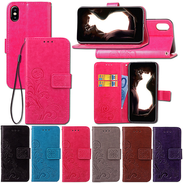 Premium PU Leather Flip Fold Wallet Case with [ID&Credit Card Slot] for Apple iPhone New iPhone X XS Max XR 5 5S 5C 6 6S 7 8 Plus