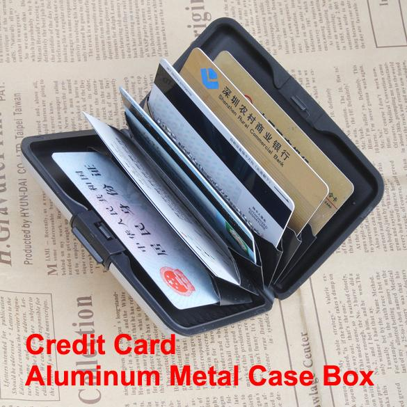Business ID Name Wallet Holder Aluminum Metal Case Box Waterproof WML99