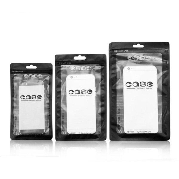 Zip-Lock-Taschen Durchsichtig Silber Kunststoff-Reißverschluss-Einzelverpackungsbeutel für iPhone XS X 4,7 5,5-Zoll-Telefonkasten STY143