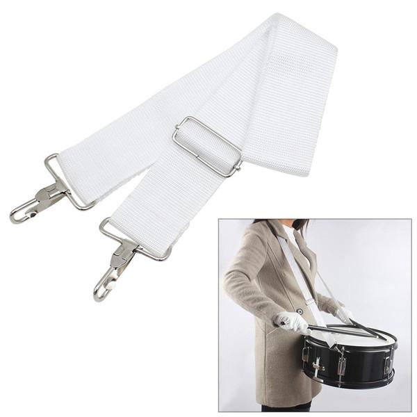 best selling One Piece Adjustable Snare Drum Strap Sling Belt Nylon for Smaller Marching light Grey