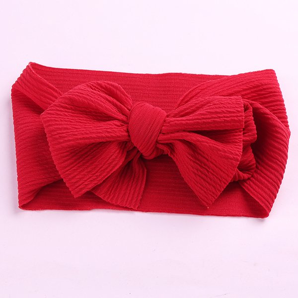 Newborn Head Band Large Hair Bows Cute New Year Gifts For Girls Adjustable Big Bow Headwrap Baby Headband Top Knot Headbands Over Sized
