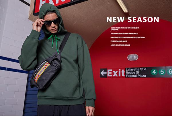 Suéter de los hombres Deporte retro suéteres de color sólido 2019 Nueva llegada Otoño e Invierno Nueva moda Popular Pareja suelta con capucha